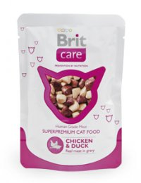Brit Care Cat kapsa Chicken & Duck Pouch 80g (kuře & kachna)